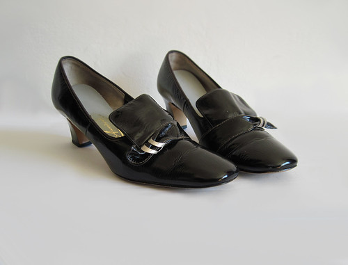 Black Patent Leather Casual Shoes
