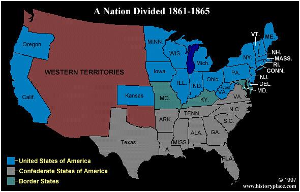 civil war map fletcher served with the union d d meighen flickr