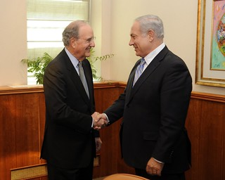 Special Envoy Mitchell Shakes Hands With Israeli Prime Minister Netanyahu | by U.S. Department of State