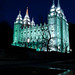 Temple Square by night