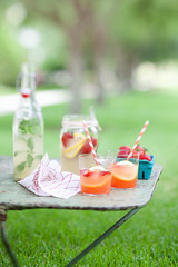 homemade ginger ale and strawberry consomme bubbles | by cannelle-vanille