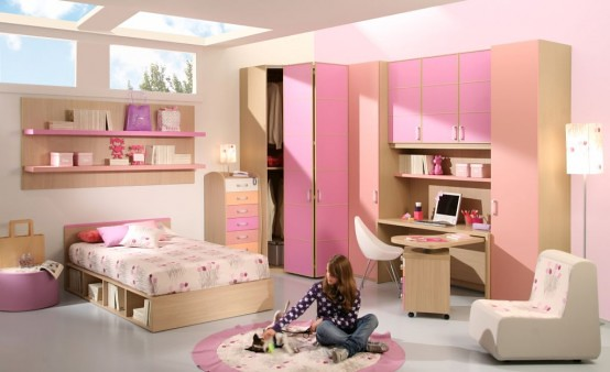 15 Cool Ideas For Pink Girls Bedrooms 11 Home Space Flickr