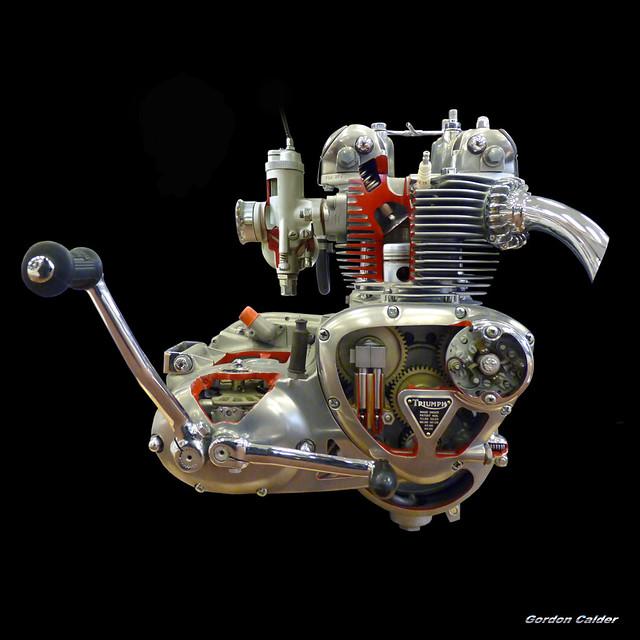 No 92 Triumph 500cc Cutaway Engine My Entire Engine