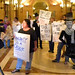Protest against Governor Pawlenty's legacy of cuts