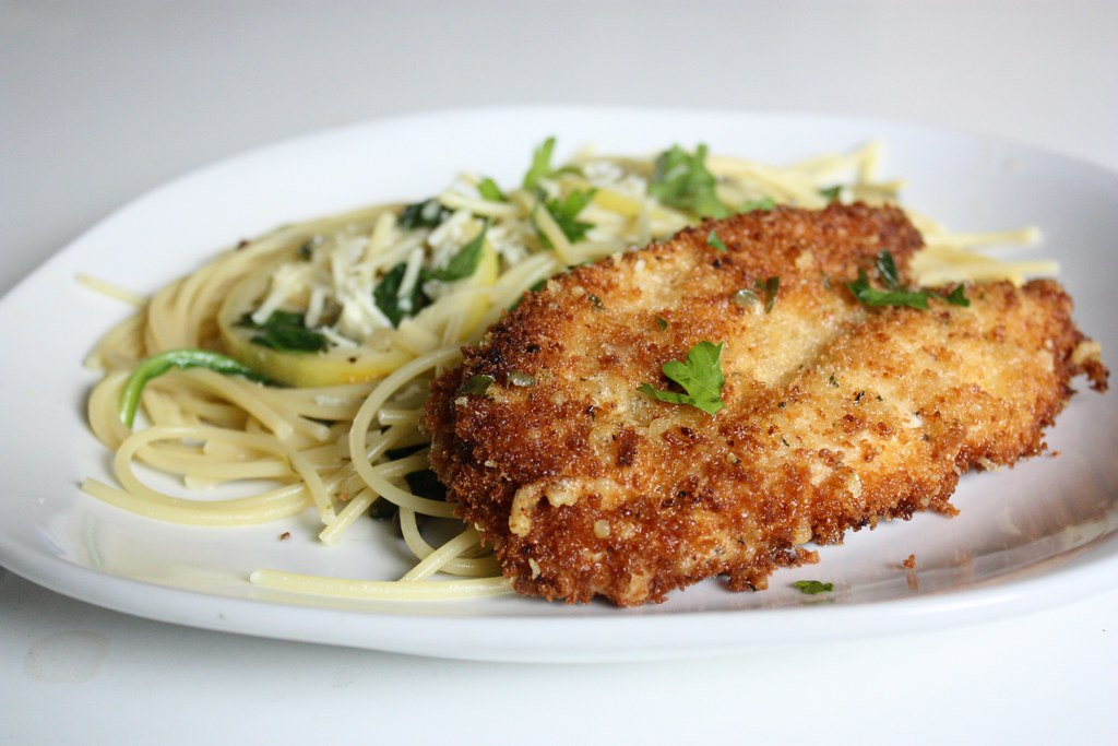 Parmesan Crusted Chicken Picatta | sunshineandbones.blogspot ...