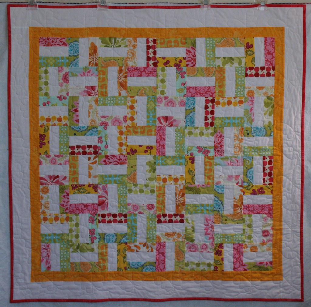 Baby Quilt Rail Fence Design With Sandi Henderson S