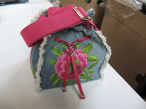 Recycled Denim Bag Patty - Fronte | by Gabriella Gai