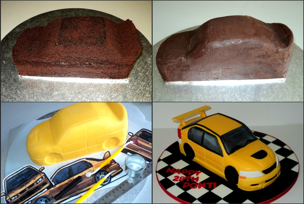 how to make an evo 7 car cake hope it helps in some way flickr. Black Bedroom Furniture Sets. Home Design Ideas