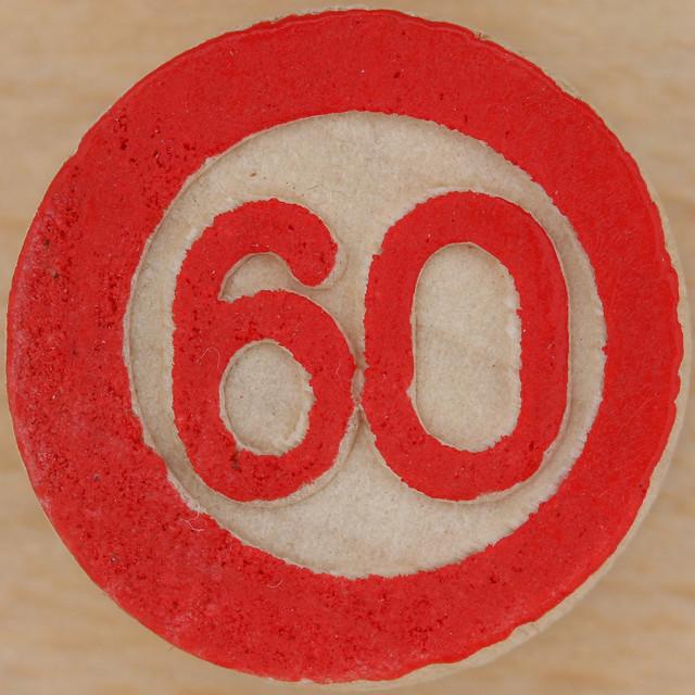 Bingo Number 60... Number Sixty