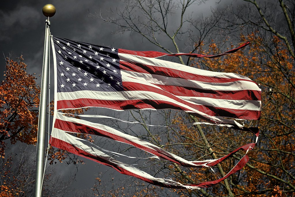 Image result for us flag tattered