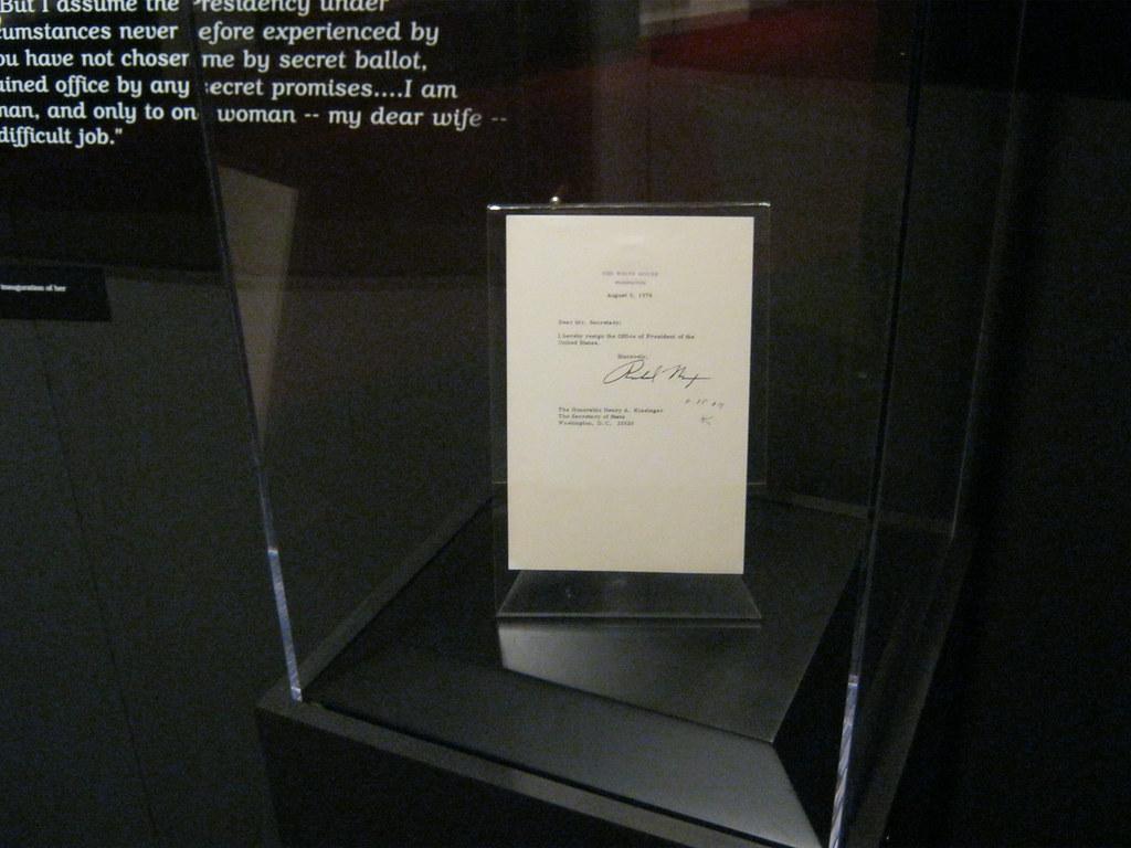Richard Nixon Resignation Letter On June 17 1972 During Flickr