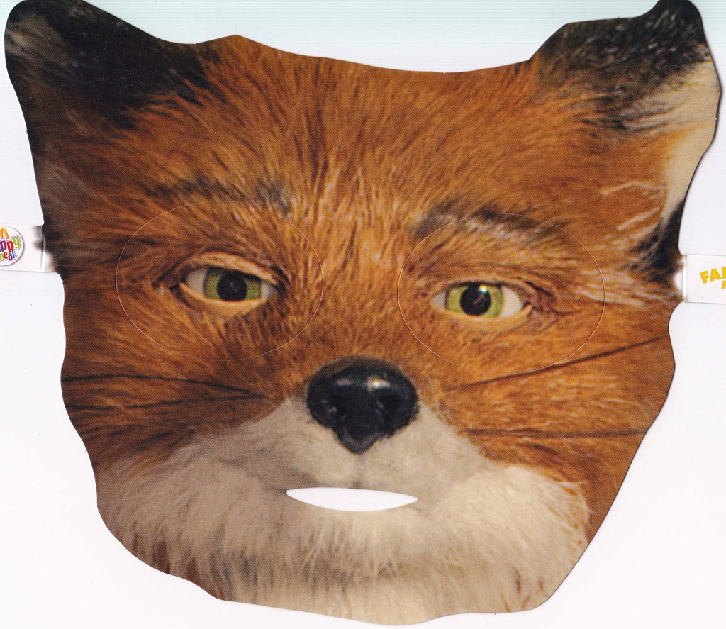 Mr Fox Mask Front Happy Meal Items That Were Released