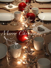Christmas Eve table setting | by Geninne