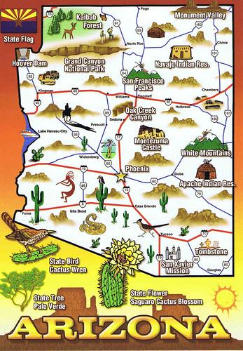 Arizona Map Card Renae Gregoire Flickr