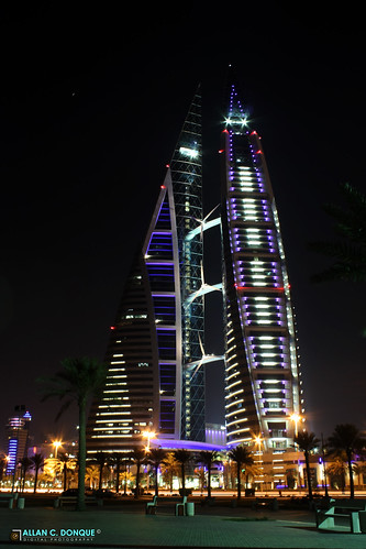 The World Trade Centre Bahrain At Night The Bahrain