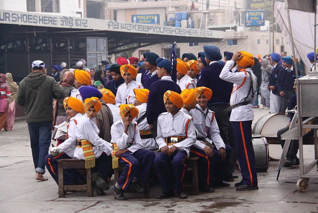 Sikh Schoolkids outside the Golden Temple, Amritsar India