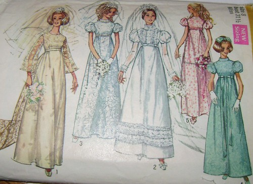 Vintage 1969 Wedding Dress Brides Maid Dress And Flower Gi