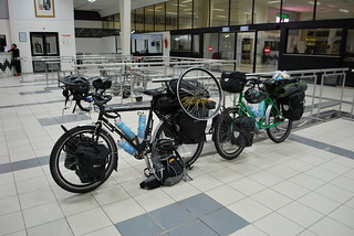 Our Bikes in the Gare Maritime | by goingslowly