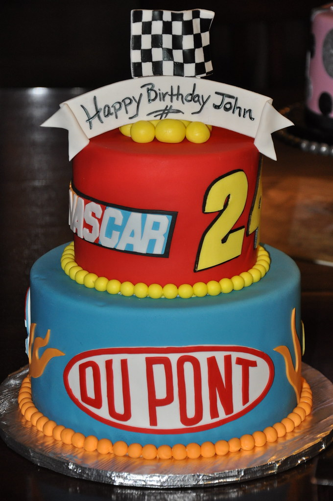 Jeff Gordon Baby This Fondant Cake Was Done For A Huge