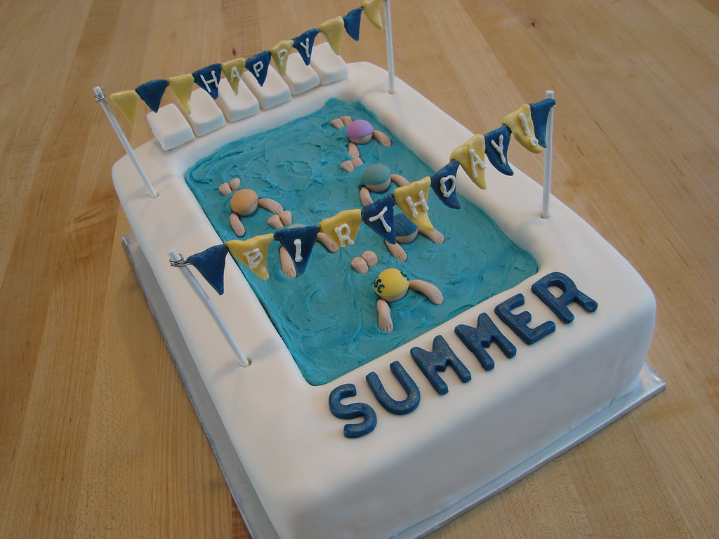 Swimming Birthday Cake