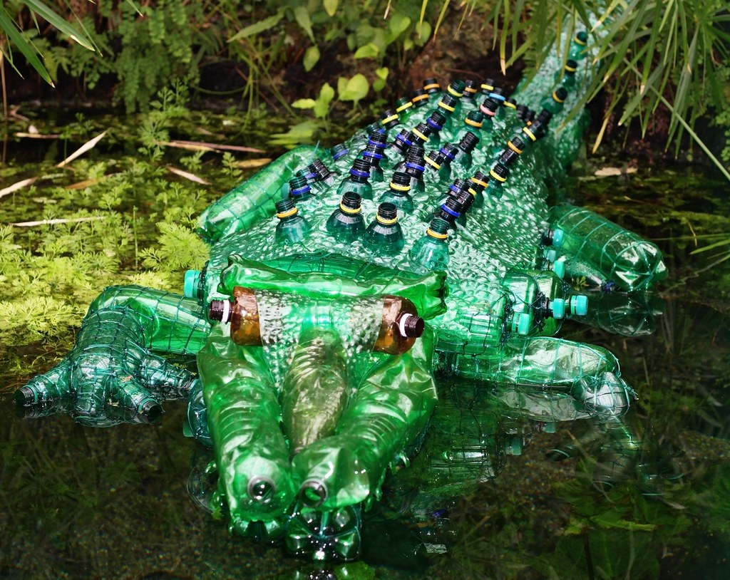 Pet Crocodile Crocodile Made From Pet Bottles A Statue