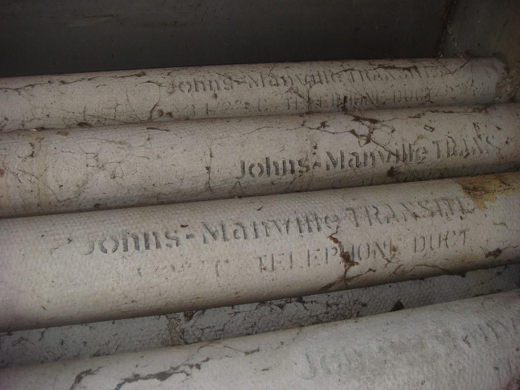 J M Transite Asbestos Cement Conduit Ducts Upside Down Vi