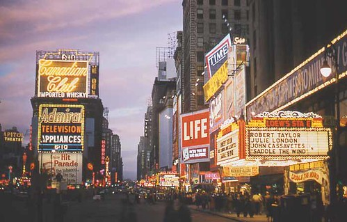1958 Times Square Nyc 1950s Vintage Photo Neon New York Ci