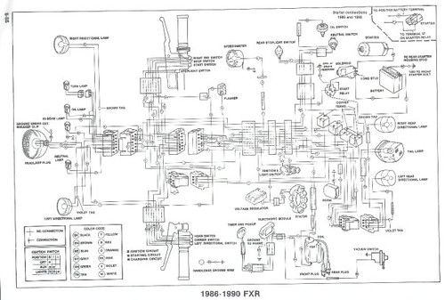 hd offical shop manual 1990 superglide wiring diagram