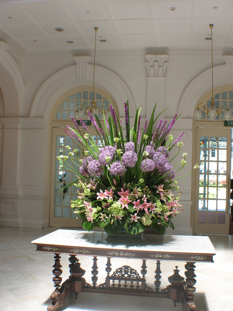 Flower Arrangement Inside Lobby Of Raffles Hotel Jeff