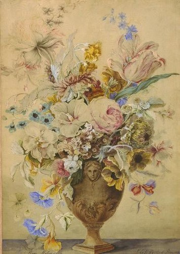 Mary moser decorative flower painting 1759 for this work flickr - Decorative painting artists ...