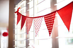 Strawberries & Cream bunting banner | by giggleberry