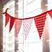 Strawberries & Cream bunting banner