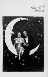 Couple posed swinging on a 'new moon' at the Trocadero, ca. 1934 | by State Library of Queensland, Australia