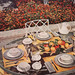 1953 Gray & Yellow Table Setting