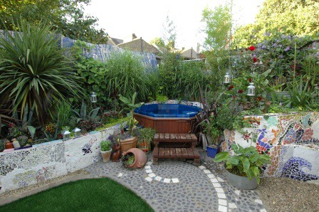 The mosaic garden by earth designs for New build garden designs