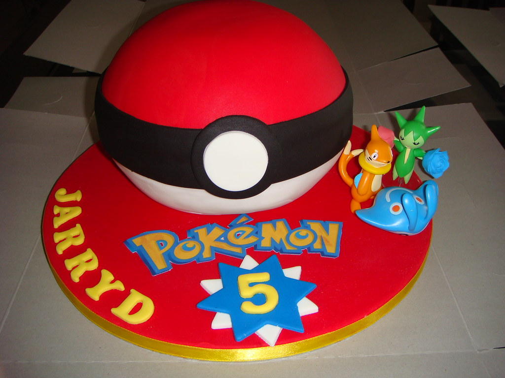how to make pokemon ball cake