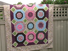 Octogon quilt using up stash fabrics | by maripenquilts