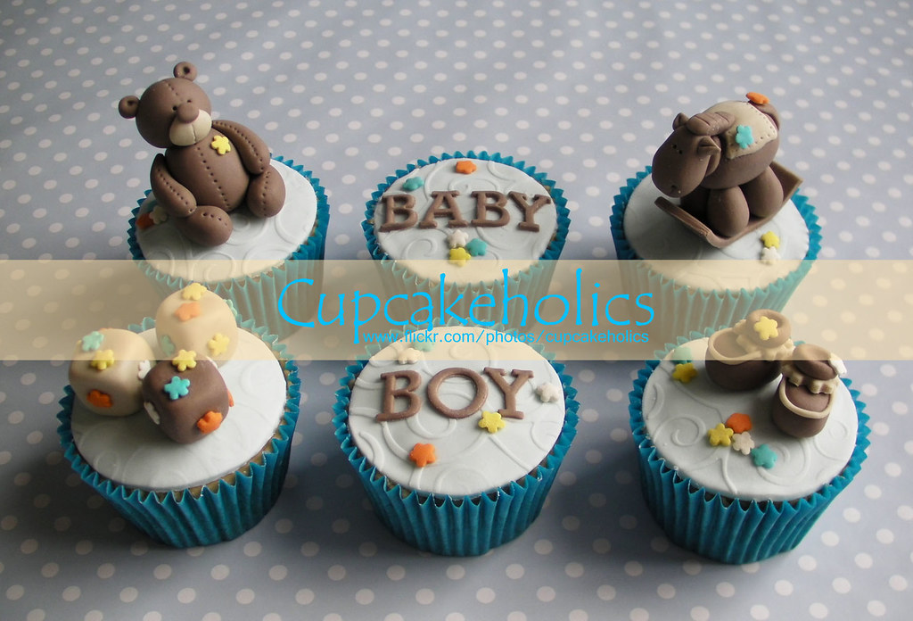 Baby Boy Cupcakes Made These For A Very Nice Lady Who