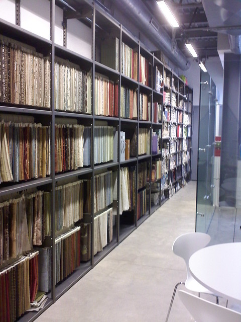 Showroom Shelving For Fabric Samples Architects