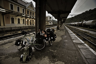 Our Bikes @ Sighişoara Train Station | by goingslowly