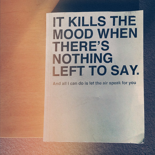 It Kills The Mood | by Lukes Beard