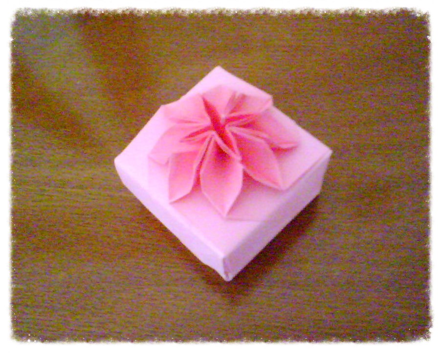Pink origami flower box katrins18 flickr pink origami flower box by katrins18 mightylinksfo