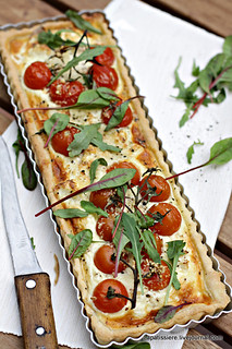 Tomato and Goat Cheese Quiche | by La Patissiere