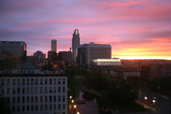 Omaha Skyline At Sunset June 2010 My Buddy Phil Has