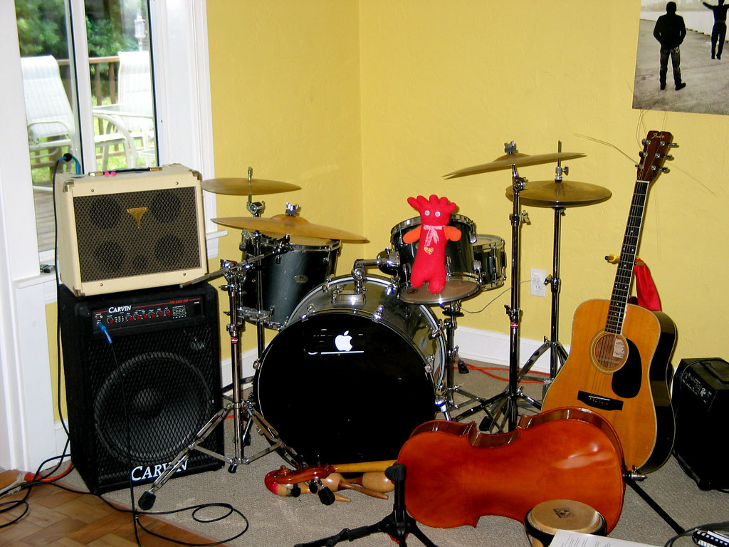 Guitar And Drums Wallpaper Guitar Drums Cymbals