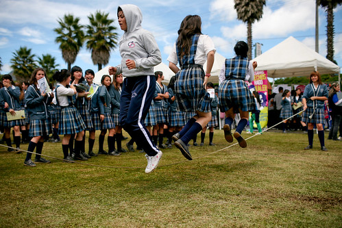 High school students jumping rope | by World Bank Photo Collection