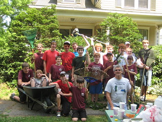 Boy Scouts Weeding Project | by chelmsfordpubliclibrary