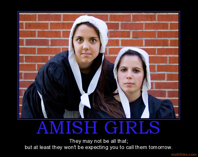 Amish girls demotivational poster