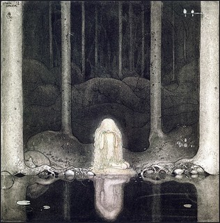 Princess Tuvstarr still stares at the water looking for her heart' (modified) by John Bauer (1913) | by Plum leaves