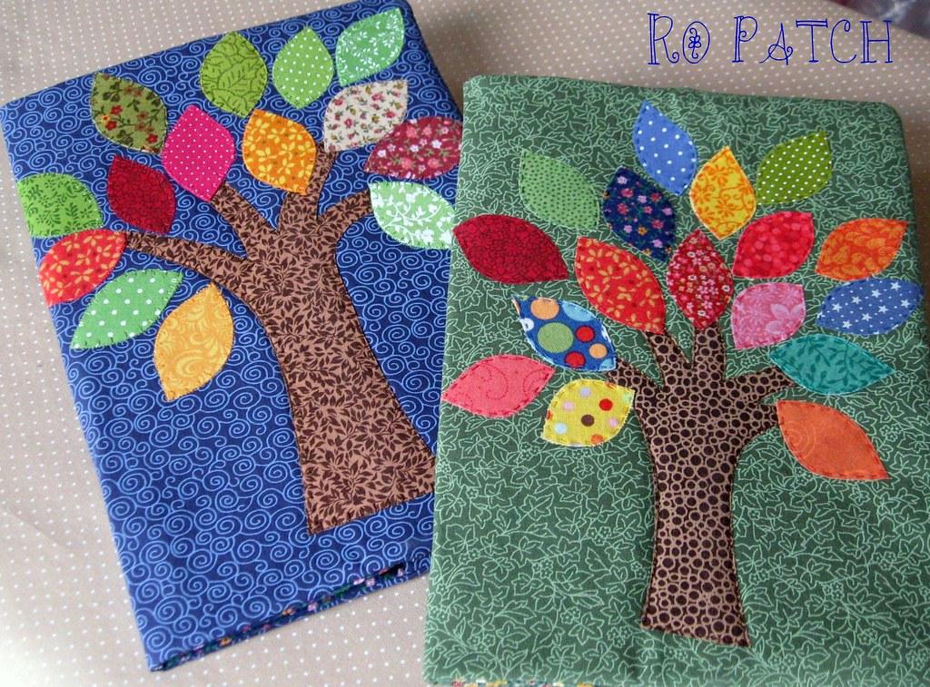 Handmade Book Cover Design : Folhinhas coloridas capa de agenda livro tamanho